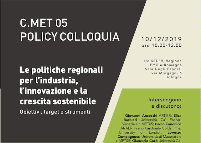 Le politiche regionali per l'industria, l'innovazione e la crescita sostenibile